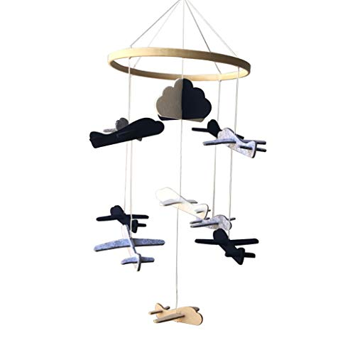 gazechimp Handmade Colorful Felt Mobile Baby Crib, Wind Chimes to at School, Easy to Install - Aircraft