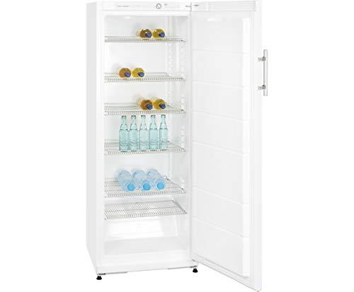 Getränke-Kühlschrank LED-Licht 5-Flaschengitter Rollen Breite 60 cm