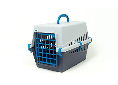 CapitanCasa Transportbox für Tiere, mit Griff, Modell Otto Hellblau