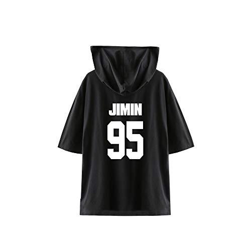 T-Shirt with Hood Unisexe Kpop BTS Bangtan Boys Suga Jin Jimin Jung Kook J-Jope Rap Monster Lover T-Shirt Tees Chemisier Col Rond Tee Shirt Tops