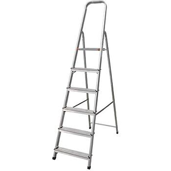 Escalera Tijera Plegable 6 Peldaños en Aluminio. Escadote 6 degraus. Hecho en Europa. BTF-TJL106: Amazon.es: Bricolaje y herramientas