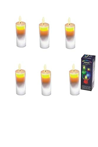 Joka International Regenbogenkerzen R&e 6 Stück mit Farbwechsel Deko Kerzenschein