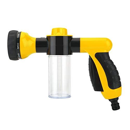 Tuinslang mondstuk, hogedrukspuit wasstraat schuim waterpistool reinigingsgereedschap wasmachine 6m (geel)