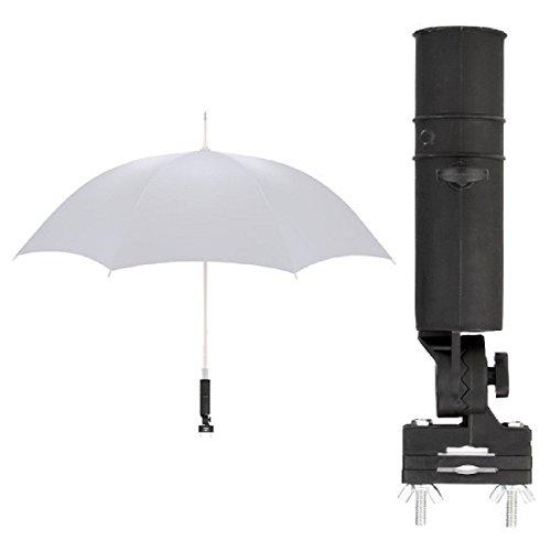 LL-Golf Universal Schirmhalter für Rollstuhl/Rollator/Kinderwagen/Halter/Regenschirmhalter/Sonnenschirmhalter/Umbrella Holder