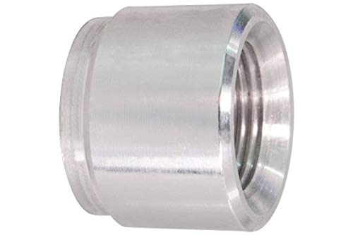 ICT Billet Aluminum M12-1.5mm Weld On Bung Female Nut Threaded Insert Weldable Metric 12mm milometer Connector Fluid Designed & Manufactured in the USA Bare FM1215BUNG