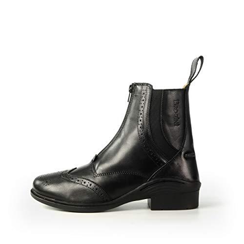 Brogini, stivaletti alla caviglia in pelle New Espom, adatti all'equitazione con pony e stalle esterne, Black, 8 UK