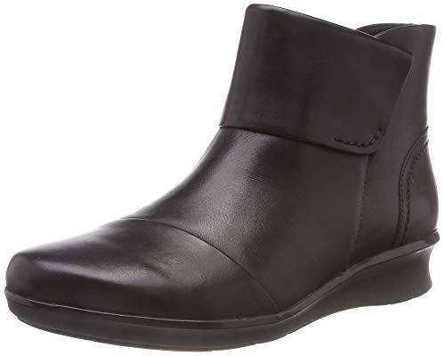 Clarks Hope Track, Stivaletti Donna, Nero (Black Leather-), 39 EU