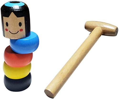 LICHENGTAI Giocattolo Magico Uomo in Legno, Funny Wooden Magic Toy, Indistruttibile Uomo di Legno Giocattoli di Legno Giocattoli di Legno Divertenti Giocattoli di Legno per Bambini e Adulti