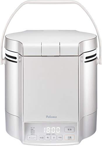 パロマ ガス炊飯器 炊きわざ PR-M18TV -13A (1.8L/10合炊き) 【都市ガス12A/13A用】プレミアムシルバー×アイボリー