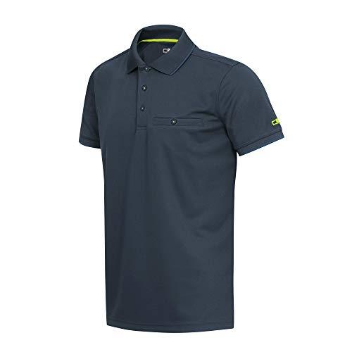 CMP Herren Atmungsaktives Piquet-Poloshirt mit Kleiner Tasche, Cosmo, 52