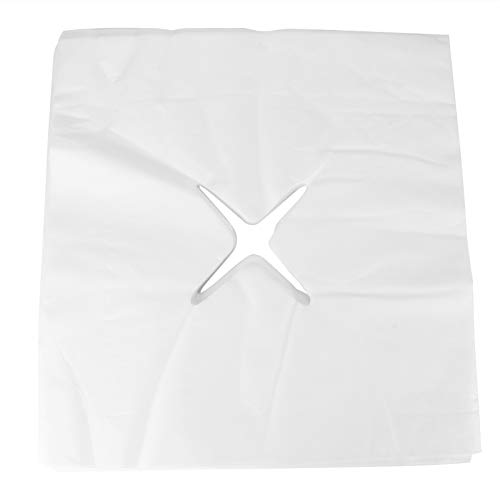 Toalla de almohada no tejida desechable para cama de masaje, toalla de almohada con agujeros, toalla de mentira (Toalla de agujero en forma de X 200 hojas)