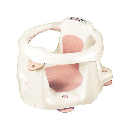 LISAY Asiento de baño para bebé, silla de baño de bebé antideslizante para bañera silla de succión de forma linda Surround diseño antideslizante asiento bebé ducha silla para 6-18 meses (rosa)