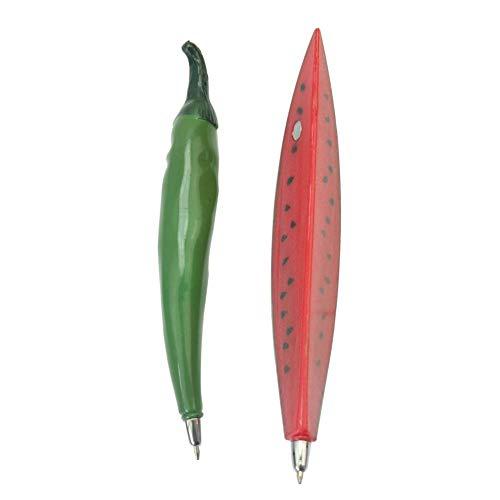 Ogquaton 2X Obst/Gemüse Sharped Kugelschreiber Kühlschrank Megnet Kits Studenten Geschenk Umweltfreundlich und praktisch