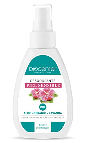 Biocenter Botanical - Desodorante ecológico Spray - Aloe, Geranio, Lavanda - Envase Ecofriendly 100% reciclado