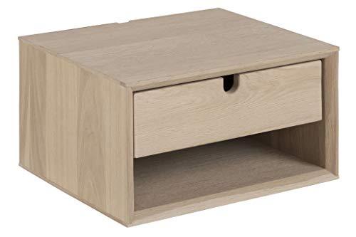 AC Design Furniture Lena Mesilla de Noche, Chapa de Roble, Talla única