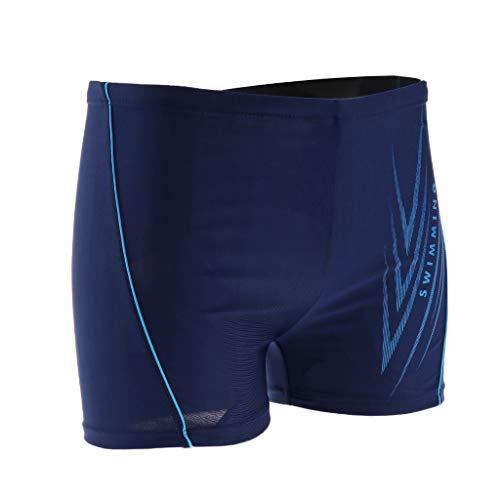 Baoblaze Maillot de Bain Homme Shorts de Plage Mer Loisir Sports - Bleu foncé 2, 4XL