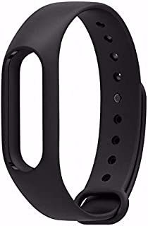 TOTU Silicone Wrist Strap M2 Band Strap for Xiaomi Mi Band 2 Mi Band Smart Activity Tracker Smart Bracelet Watch Band Case Miband 2 Wearable Wristband Bracelet Strap (Black)