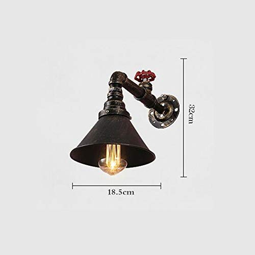 GOG Lampe, Industrial America Kreative Persönlichkeit Wasserpfeife Antik Retro Eisenwand Gesund und umweltfreundlich Schützen Sie die Augen