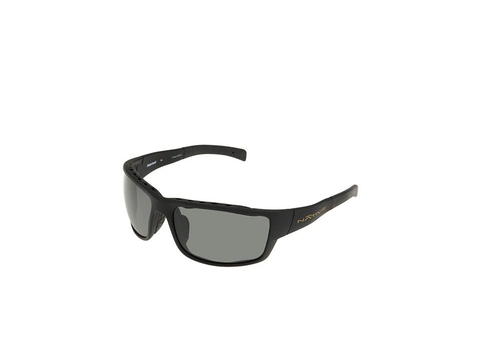 Native Eyewear Cable (Asphalt/Gray Lens) Sport Sunglasses