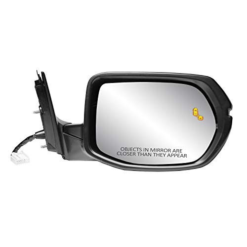 Fit System Passenger Side Mirror for HONDA CR-V EX, EX-L, testured black w/PTM cover, w/turn signal, w/BSDS, foldaway, w/o camera, HP, 63071H