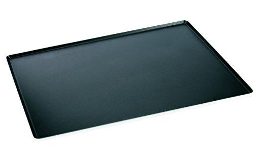 Backblech aus Aluminium - mit PTFE Antihaftbeschichtung in schwarz / Abmessung: 60 x 40 x 1 cm