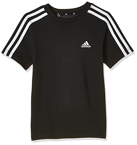adidas GN3995 B 3S T T-Shirt Bambino Black/White 1112