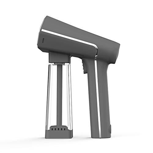 STEAMONE S-Nomad Stiro Verticale Portatile, piastra XL in acciaio inox, 2000 W, serbatoio 140ml, adattatore universale per bottiglie, gancio appendiabili, spazzola levapelucchi, custodia, Grigio Opaco