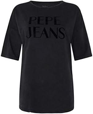 Pepe Jeans Camiseta Cherie Negro para Mujer