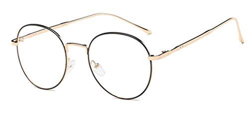 NAVARCH Accesorio de Moda Montura de Gafas Mujer Hombre Montura de Gafas Metal Dorado,Negro,Plateado Montura de Gafas Transparentes Unisex No prescripción…