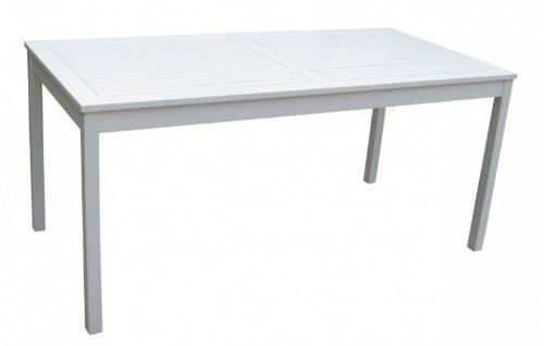Vamundo Gartentisch weiß lackiert Eukalyptus FSC-Holz