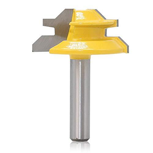 Steadyuf 45 Grad Lock Mitre Router Bit, Verleimfräser Gehrung Verleimfräser Oberfräse Holzbearbeitung Fräser Schneidwerkzeug für Graviermaschine Trimmmaschine