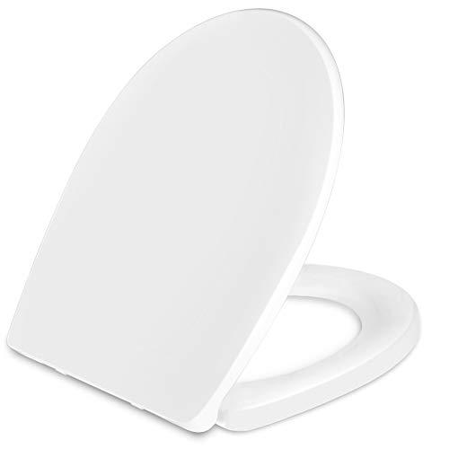 Sedile WC, KASTEWILL Copriwater Universale con Chiusura Ammortizzata, Forma O Copriwater, Montaggio Rapido & Facile da Pulire di Forma O Tavoletta WC