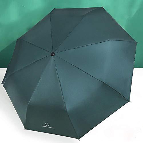 MVBGLK Parasol Ultralicht opvouwbaar kunststof zwart zonnescherm UV-bescherming Donker Groen