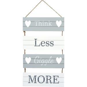 Transomnia 'Think less, giggle più a stecche, con scritta Sign