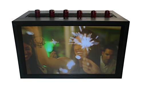 Cavevinum CV-7-LCD Expositor de barra con pantalla LED para 6 botellas vinos tintos, Acero