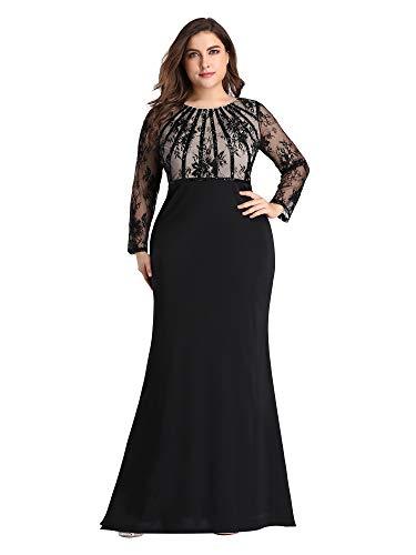 Women's Plus Size Evening Dress Bodycon Mermaid Dress Cocktail Party Dress Black US26
