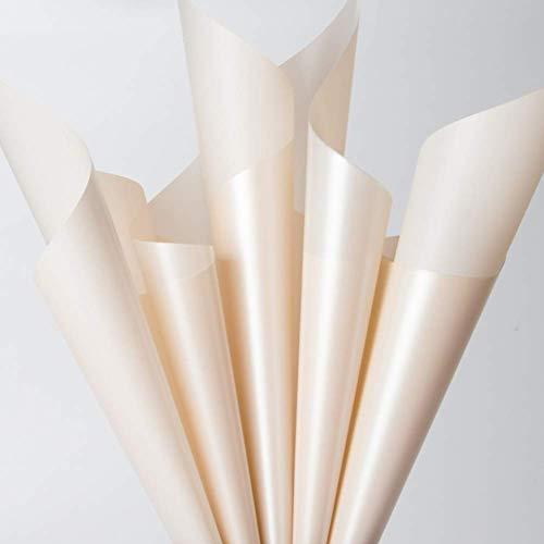 ZXL Papel de Envoltura para Ramo de Flores, Resistente al Agua Espesar Material de Embalaje Tienda de Flores Día de San Valentín Día de la Madre Decoración de Regalo Papel 60 * 60CM Origami (Col