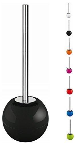 Spirella 10.17240 Brosse WC avec réceptacle en Forme de Boule Noir Brillant