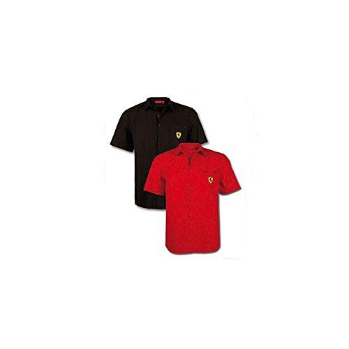 Ferrari Camisa Hombre Escudo Manga Corta Negro Talla L