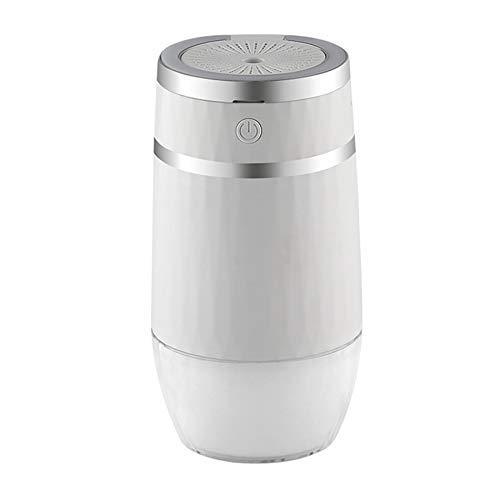 JINKEBIN Ventilador USB 300 ml humidificador de aire con lámpara de noche LED Ventilador Aroma Aceites Difusor USB Fogger Mist Maker para el hogar oficina coche blanco