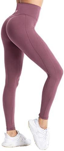 coastal rose Women s Yoga Pants Comfy Brushed 7 8 Length High Waisted Workout Leggings Tummy product image