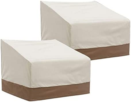 Finnhomy Patio Chair Covers Set of 2 Waterproof Outdoor Protective Furniture Cover for Garden Lounge Club Chair Cover...