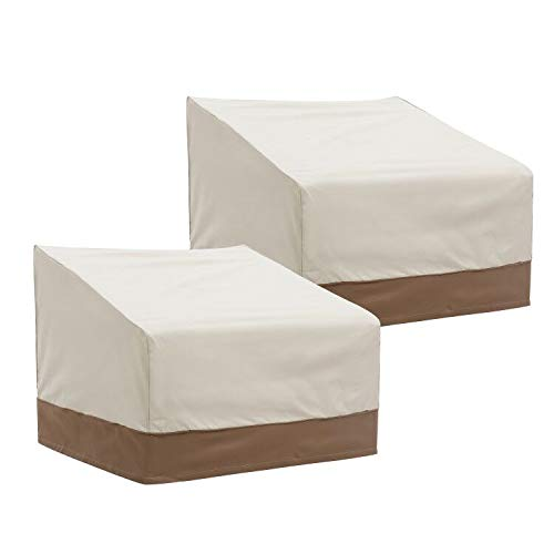 """Finnhomy Patio Chair Covers Set of 2 Waterproof Outdoor Protective Furniture Cover for Garden Lounge Club Chair Cover Heavy Duty Weather/Fade Resistant 2 Pack, 38"""" L X 35"""" D X 31"""" H"""