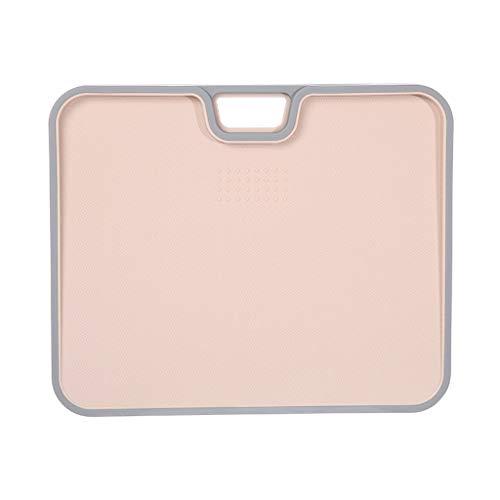 tabla de cortar El corte de plástico flexible cocina Junta Mats fácil de agarrar mangos gruesos Tabla de cortar, agarre fácil de manejar, for la cocina cocina (Color : Pink)