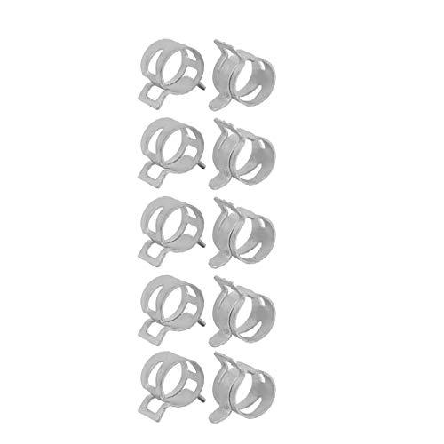 New Lon0167 10 piezas 14mm Tipo de banda de resorte Acción Tubo de la manguera de combustible Baja presión Abrazadera de aire blanco(10 Stücke 14mm Federband Typ Aktion Kraftstoffschlauch Niederdruckl