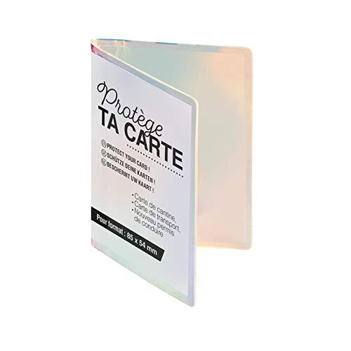 Exacompta - 510510E - Porte-cartes Iris aux reflets irridescent - Permet de ranger plusieurs cartes de transport, de crédit ou de cantine - 7 cm x 10 cm