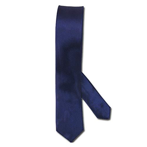 Black Sugar - Corbata fina de seda, accesorio para hombre, mujer, fiesta, ceremonia, boda, disfraz, cosplay azul Talla única