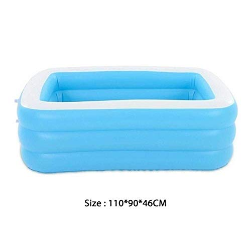 Inflatable Swimming Pool,Square Swimming Pool Portable Dry Pool Outdoor Toy PVC (Color : 110x90x46CM)