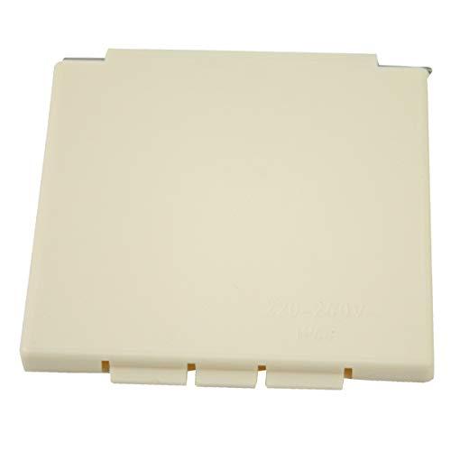 Tapa de repuesto para enchufe exterior CEE para caravana, color beige cuadrado