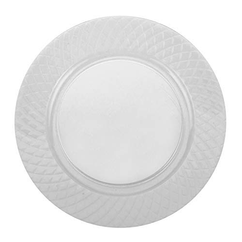 Party Joy 'I Can't Believe its Plastic' 6' Diamond Clear Plastic Plates  Diamond Collection   Pack of 100 Dessert plates  Heavy Duty Premium Plastic Plates for Wedding, Parties, Camping & More (Clear)